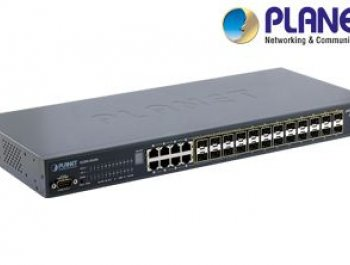 24-Port 100/1000 SFP 8 Gigabit Yönetilebilir Switch